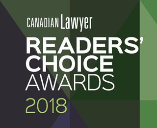 CLA 2019 2018 Canadian Lawyer Readers' Choice Awards